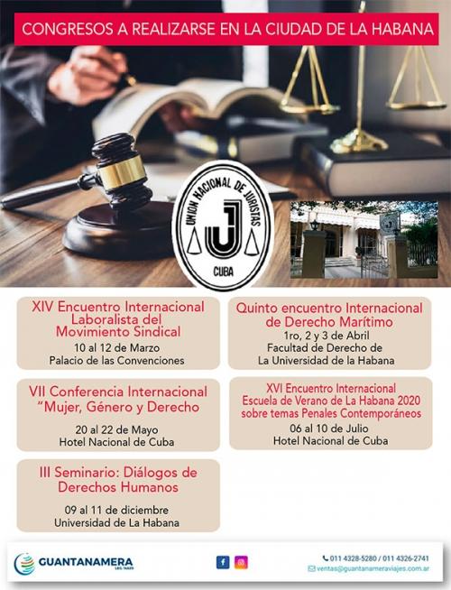 Congresos en La Habana 2020