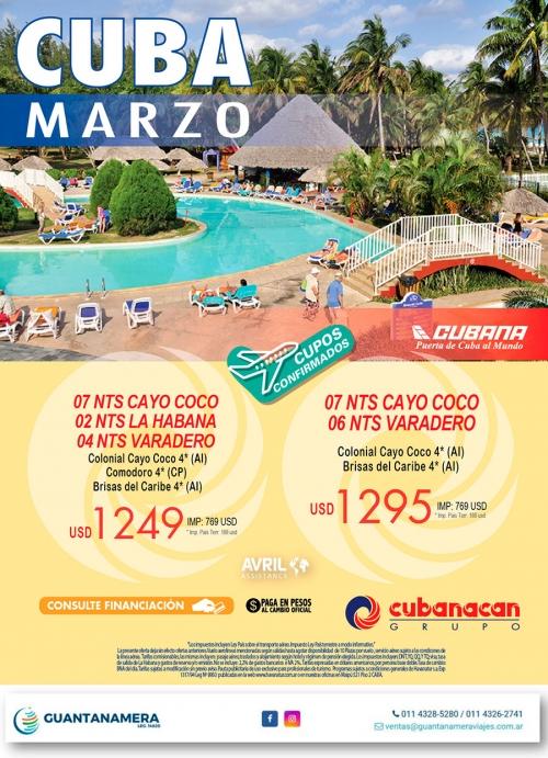 Cuba con Cubanacan en Marzo 2020